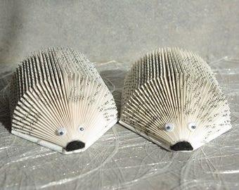 Set of 2 baby Hedgehog place card photo holder, card holder.