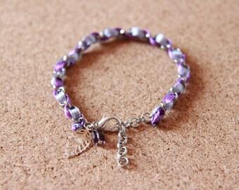Bracelet • JADE • silver / purple / gray