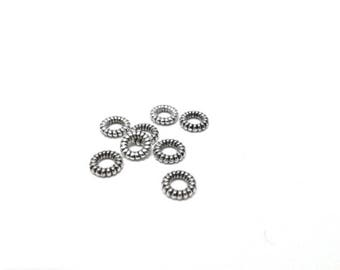 Set of 4mm metal spacer rondelle beads