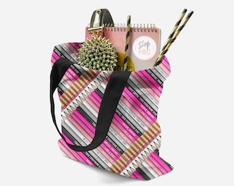 All Over Tote bag / Pencils / Stationery / Girlboss / Planner Girl // Gift For Her, Planner Gift, Mother's Day Gift