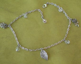 Anklet beads Crystal and charms