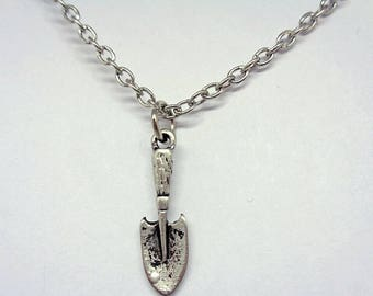 Handmade Gift Ideas Antique Silver Plated Shovel Spade Gardening Bracelet