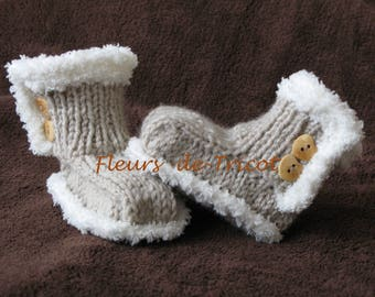 Knit baby boots booties