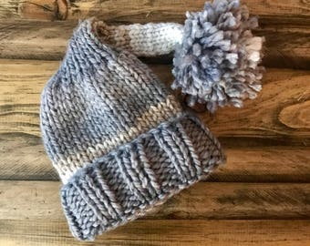 Perfect Winter Hat - Blue Gray