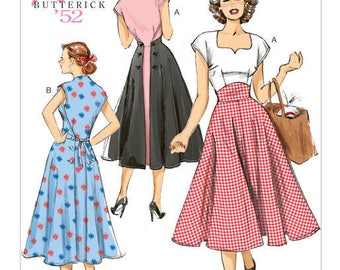 Vintage by B6212 retro Butterick sewing pattern