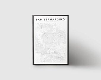 San Bernardino Map Print