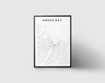 Green Bay Map Print