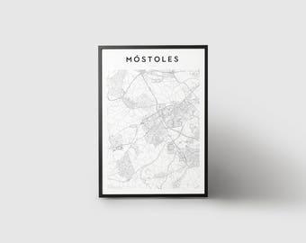 Móstoles Map Print