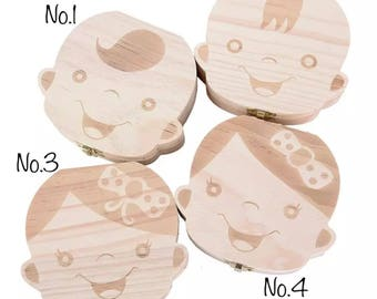 Wood Tooth Fairy Box/Tooth Box Organizer/Baby Tooth Box