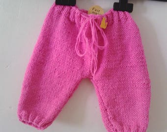 Newborn baby knit pants