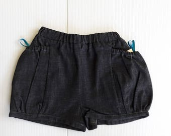 RAW 4 AND 8 YEARS OLD GIRL DENIM SHORTS