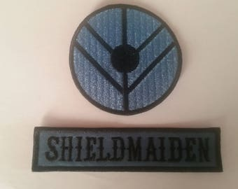 2 Shieldmaiden Patches Vikings Free Postage