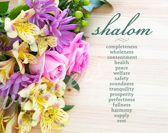Shalom Definition Fine Art Floral Photograph