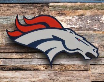 Denver Broncos Wall Decor broncos decor | etsy