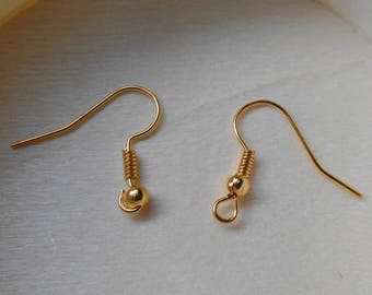 10 blank earrings gold metal