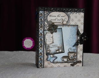 Coffee talk Scrapbook, photo album, mini album