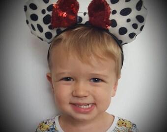 Disney 101 dalmations minnie mickey mouse ears disneyland