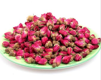 4oz (.25LB) - All Natural Premium Dried WHOLE Red Rose Buds, USA Fast/Free Shipping!!