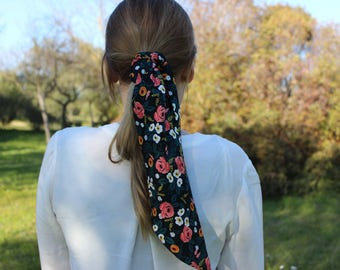 Scarf for women soft rayon fabric, hair band floral print neck scarf mother day gift