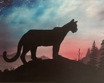 Mountain Lion Oil Painting