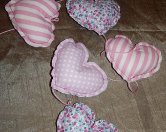 Garland of hearts liberty and cotton for children