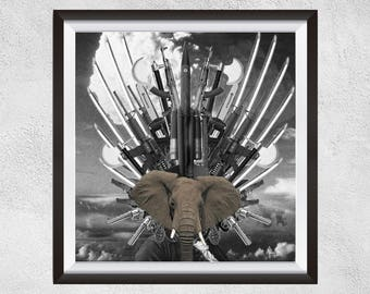 Social Commentary Fine Art Print - The Beast
