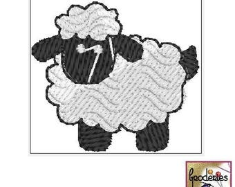 Embroidery file format: little cute sheep
