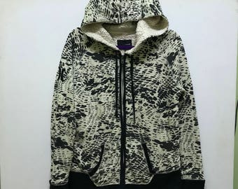 Rare!!! Hurley Hoodies Small Logo Full Printed Zipper Double Pockets