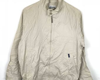 Rare!!! Beverly Hills Polo Club Light Jacket Spellout Double Pockets Full Zipper