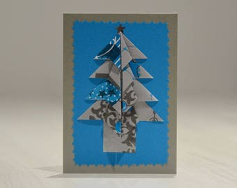 """""""Tree"""" greeting card with origami"""