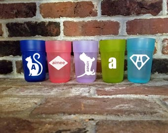 Set of 4 Personalized 16 oz. Kids Tumblers, BPA Free Cups