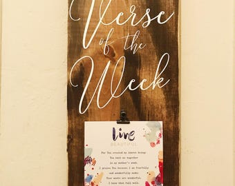Verse of the week Woodsign