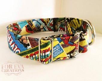 Avengers Martingale Dog Collar