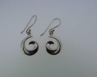 Sterling silver curl earrings