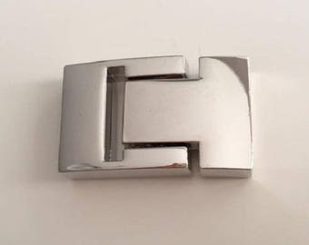 silver plated magnetic clasp, 3mm x 14mm