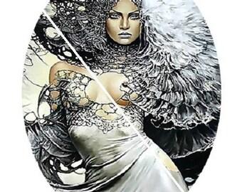 beautiful goddess, fairy, strength, energy, 30x40mm