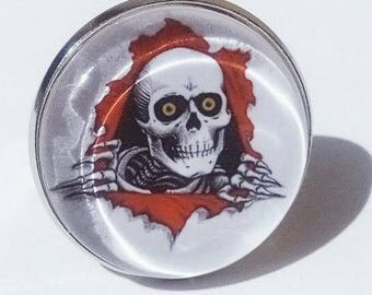 ring skull, skulls, 25mm