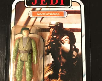 Star Wars ROTJ Rebel Commando on card unpunched