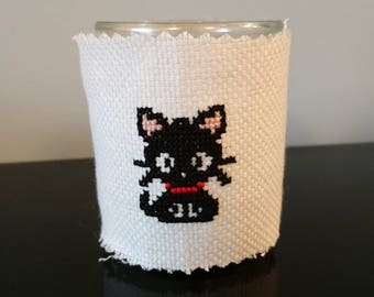 "Candle cross-stitch ""Little cat"" - Collection ""cat"" clown """