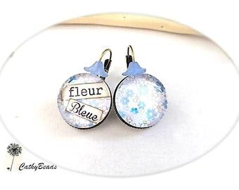 """""""Blue flower"""" Stud Earrings"""