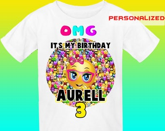 Personalize Emoji Iron On Transfer, Emoji Birthday Shirt Iron On Transfer, Emoji Transfer, Digital File Only