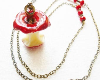 Long Candy Apple red beads