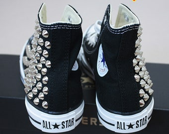 Genuine CONVERSE All-star Chuck Taylor as core Hi with half-side studed Sheos
