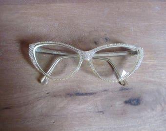 Vintage diamante glasses frames