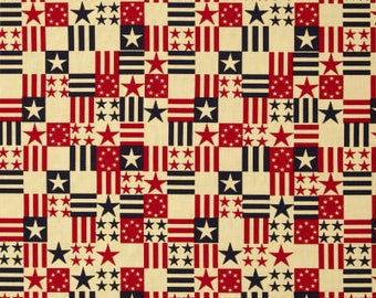 Made in the USA Americana Squares 1/2 yard