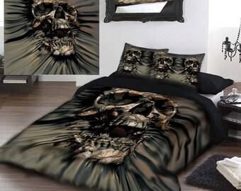 SKULL RIP-THRU - Duvet & Pillow Cases Covers Set Kingsize