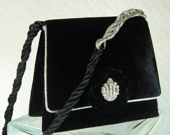 Black Velvet Evening Purse