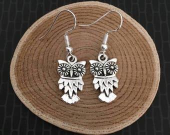 Silver Owl Earrings Hedwig Owl Owl Lover Harry Owl Gifts Silver Owl Charm Owl Jewelry Fandom Hogwarts Wizard Potterhead Owl Post