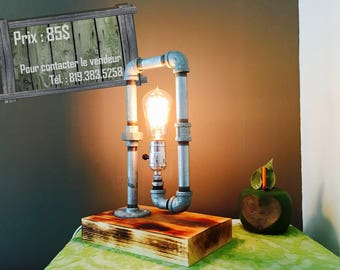 Heavy cast iron pipe lamps