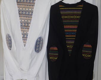 Boho Tribal lace-up Long-sleeve shirts